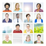 Portrait of Multiethnic Diverse World People Royalty Free Stock Photography