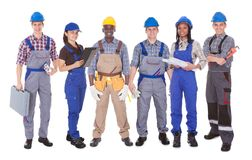 Portrait of multiethnic engineers Stock Photo