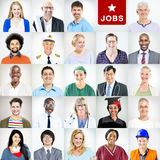 Portrait of Multiethnic Mixed Occupations People.  Stock Images