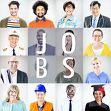 Portrait of Multiethnic Mixed Occupations People Stock Image