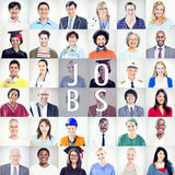 Portrait of Multiethnic Mixed Occupations People Royalty Free Stock Photos