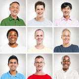 Portrait of Multiethnics People in a Row. Portrait of People in a Row stock photos