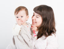Portrait of mum with a daughter Royalty Free Stock Images
