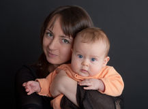 Portrait of mum with a daughter Stock Photography