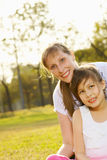 Portrait mum with daughter b Royalty Free Stock Photography