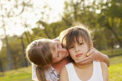 Portrait mum with daughter c Royalty Free Stock Photography