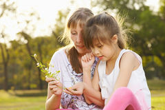 Portrait mum with daughter  Royalty Free Stock Photography