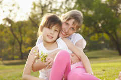 Portrait mum with daughter Royalty Free Stock Image