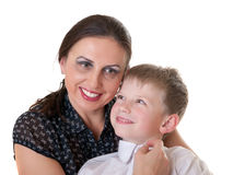 Portrait of mum with the son Stock Photo