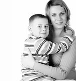 Portrait of mum with the son Royalty Free Stock Photo