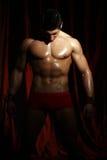 Portrait of a muscleman Stock Photos