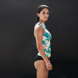 Portrait of muscular female fitness model Stock Image
