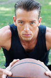 Portrait of a muscular male basketball player Royalty Free Stock Photo