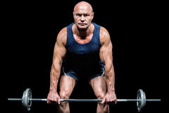 Portrait of muscular man exercising with crossfit Stock Photo