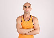 Portrait of a muscular man. Stock Images