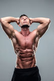 Portrait of a muscular man looking up Stock Photography