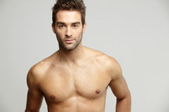 Portrait of muscular mid adult man Stock Image