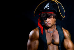 Portrait of a muscular pirate Royalty Free Stock Images