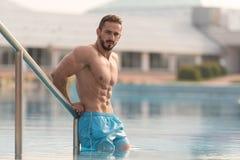 Portrait Of A Muscular Sexy Man In Underwear Stock Photos