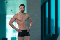Portrait Of A Muscular Sexy Man In Underwear Stock Photography