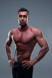 Portrait of a muscular sportsman posing Royalty Free Stock Photo