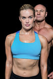 Portrait of muscular woman and man Royalty Free Stock Image