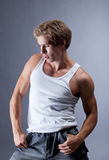 Portrait of muscular young hip hop dancer Stock Photography