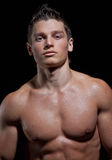 Portrait of the muscular young naked sexy boy Royalty Free Stock Photos