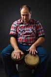 Portrait of musician with bongo Stock Photo