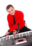 Portrait of a musician with digital piano Royalty Free Stock Image