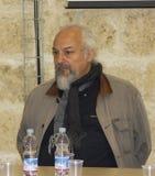 Portrait musician eugenio finardi conference press Stock Image