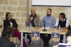 Portrait musician eugenio finardi conference press Royalty Free Stock Photo