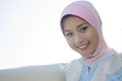 Portrait of the muslim girl Stock Photos
