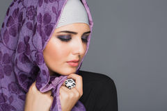 Portrait of Muslim women in hijab Stock Photo