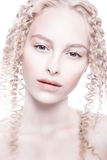 Portrait of mysterious albino woman Royalty Free Stock Image