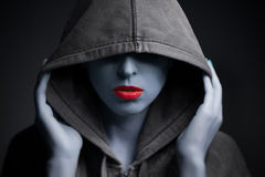 Portrait of a mysterious scary woman Royalty Free Stock Photo