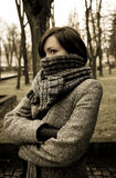 Portrait of mysterious woman Royalty Free Stock Images