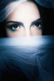 Portrait of mysterious woman Royalty Free Stock Photography