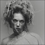 Portrait mystique d'une fille photographie stock