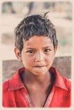Portrait népalais de garçon Photo stock