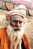 Portrait of a Naga Sadhu royalty free stock image
