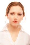 Portrait nah oben von der jungen Frau Lizenzfreie Stockfotografie