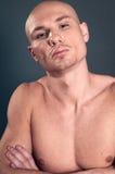 Portrait of naked athletic man Stock Image