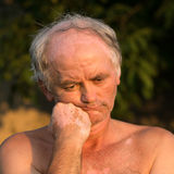 Portrait of naked man Stock Image