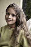Portrait of a natural beauty girl Royalty Free Stock Images