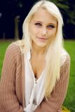 Portrait of natural beauty in park Royalty Free Stock Photo