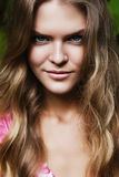 Portrait of natural blond woman. With long hair Stock Photography
