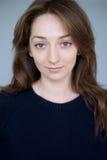 Portrait natural brunet girl Stock Images