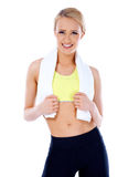 Portrait of natural sporty woman Royalty Free Stock Photo