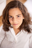 Portrait of a natural young girl Royalty Free Stock Photos
